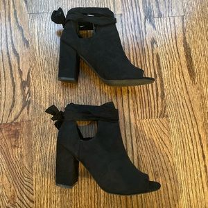 Black suede Booties